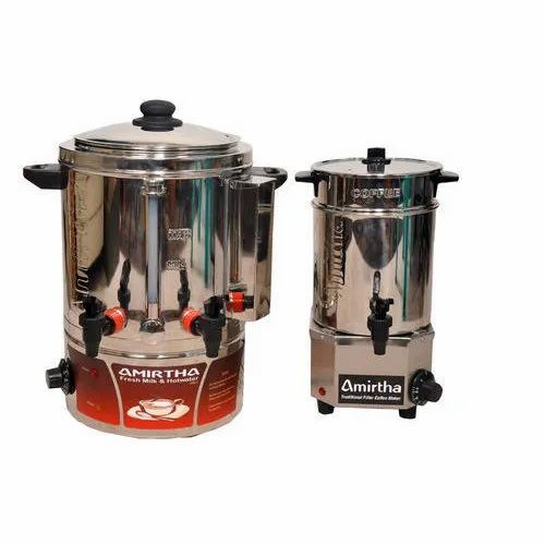 Electric Milk Boiler & Traditional Filter Coffee Maker Combo