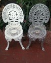 Small Metal Iron Garden Dining Chair