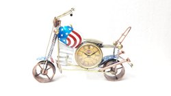 Big  Metal Bullet Bike Clock for Home Decor