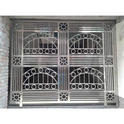 Silver Stainless Steel Grill Window