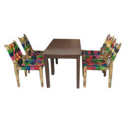 Recycle Material Dining Table, Height: 18 inch