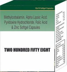 Methylcobalamin Alpha Lipoic Acid Pyridoxine Hydrochloride Folic Acid and Zinc Softgel Capsules