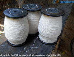 White Eri Silk Yarn Single Ply-Peace Silk