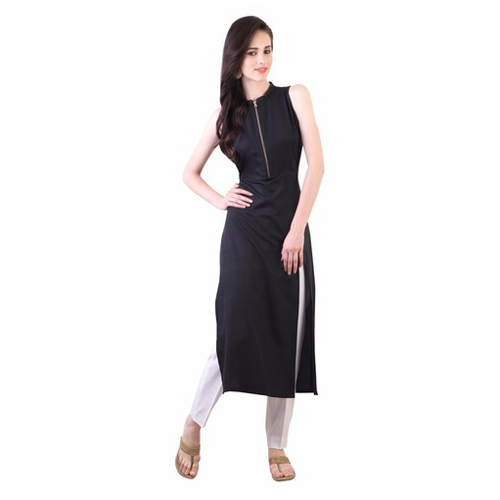 774679272fce Sleeveless Black Kurti, Size: S, M & L, Rs 500 /piece, S P K Smart ...