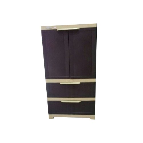 Brown Nilkamal FMDR 2B PLASTIC CUPBOARD, For Home