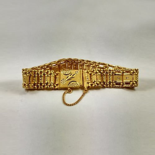 a262bc4fc02 Designer Gold Plated Mens Bracelets at Rs 2500 /piece | Gold Plated ...