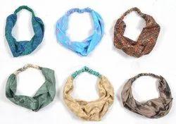 Head Rope Vintage Silk Sari Elastic Headband Bow Knot HB4