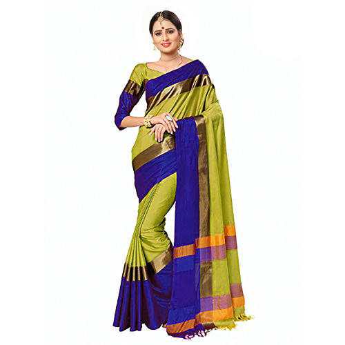 a7ed520d1 Ramapir Fashion Women Cotton Silk Saree With Jhalar