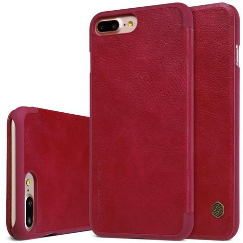 timeless design f527f f725b Nillkin Qin Series Leather Case For Apple Iphone 7 Red