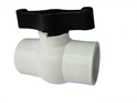 PP Solid White Ball Valve