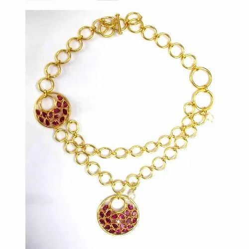 925 Sterling Silver Link Necklace Jewelry Gold Plated