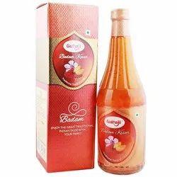 Guruji Badam Kesar Syrup, Packaging Size: 750 ml
