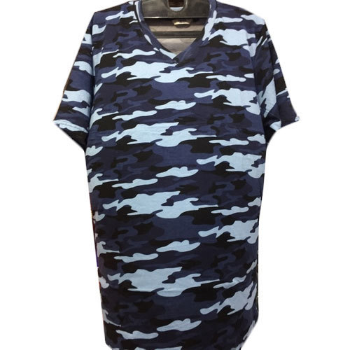 V Neck Large Men  s Military Print T-shirt d35d83d11c3