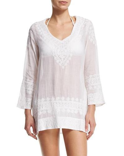 embroidered tunic cover-up : factorywomen tunics