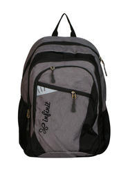 Nylon Dark gray/ Black Infinit Wildcraft Lightweight Black Color School Bag, Size: 47*12*33