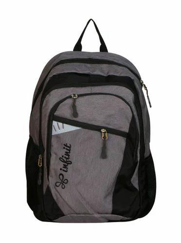751789e96b930 Nylon Dark gray/ Black Infinit Wildcraft Lightweight Black Color School Bag,  Size: 47