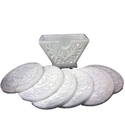 White Marble Carving Coaster Set