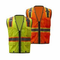 Polyester Sleeveless Safety Jacket