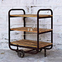 Vintage French Country Furniture - Scandinavian Bar Cart