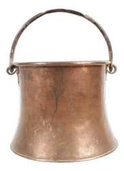 Antique Copper Pail NJO-4891