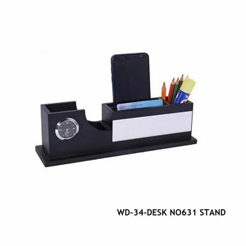 Black Wooden Desk Top-WD-34