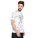Men Spray Printed Cotton T Shirt