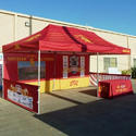 Polyester Red Event Tents On Hire