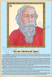 Rabindra Nath Tagore For Life Sketch Of Great Men Chart