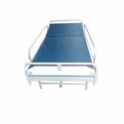 Stainless Steel Back Rest Cot With Mattress