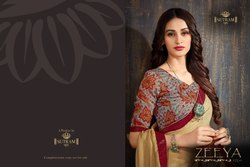Silk Party Wear Designer Collection Moss Chiffon Printed Saree, With Blouse Piece, 5.5 m (separate blouse piece)