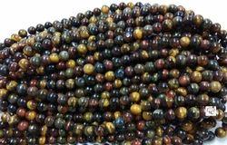 KCI Gemstone Multi Tiger Round Beads
