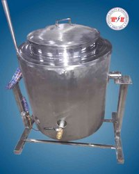 TI Stainless Steel Commercial Rice Cooking Vessel, Power: Steam