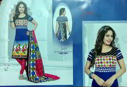 three piece printed pure cotton unstitched salwar suits