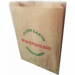 Printed Kraft Paper Grocery Packaging Bag, Capacity: 1-7 Kg