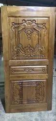 Burma Teak Wood Door with Carving