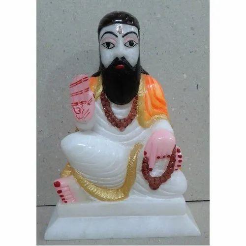White Marble Ravidas Statue