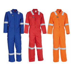 Cotton, Polyester Full Sleeves Industrial Worker Safety Uniform