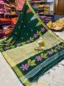 Handloom Temple Border Jamdani Sarees