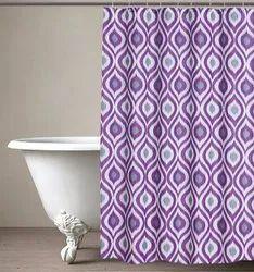 71 x 71 Inch Ikat Purple Shower Curtain