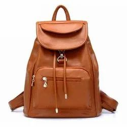 Female Brown BPC05 Fancy Leather Backpack