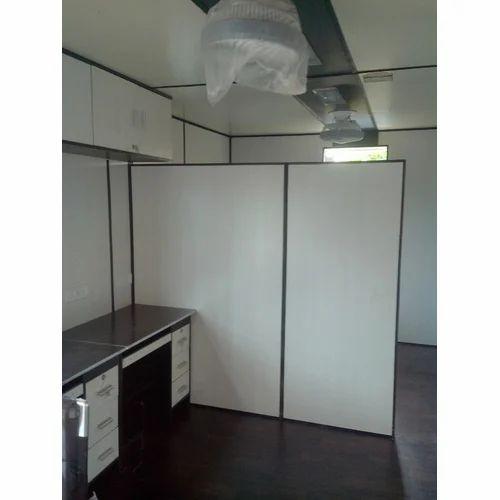 Steel Pvc Portable Cabin Interior Parion