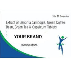 Extract Of Garcinia Cambogia, Green Coffee Bean, Green Tea & Capsicum Tablets