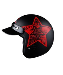 Motorcycle Helmets - Jet Flyer Classic Decor Star - 3 Years Warranty