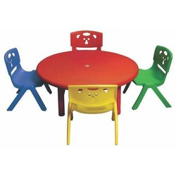 Plastic Play School Table Chair Set