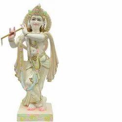White Krishna God Statue