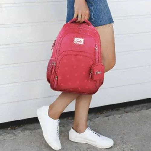 Genie Twill Red School Bagpack