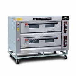 Stainless Steel 2 Deck 6 Tray Gas Oven