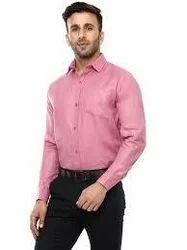 Linen Small And Large Mens Cottan Plain Shirt
