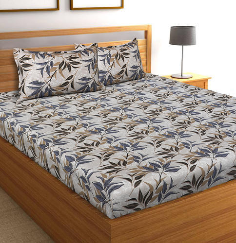 b80543e233f Floral Print Plain And Printed 100% Pure Cotton Multi Color Printed Double  Bedsheet