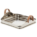 stainless steel metal Decorative serving Tray